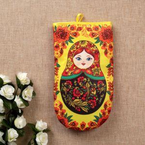 Прихватка - рукавица «Матрёшка», хохлома, сувенирная 3292723