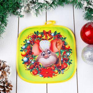 Прихватка «Мышонок - повар», с ложкой, 20?20 см, сувенирная 4565986