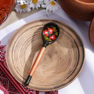 Ложка деревянная «Чернушка», маленькая, хохлома, МИКС