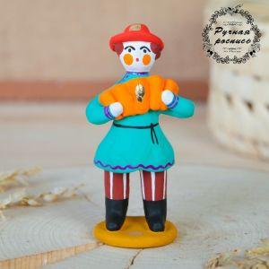 """Дымковская игрушка """"Мужик стоячий с гармошкой"""" 1592428"""