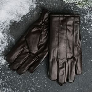 Перчатки кожзам коричневые 4645888