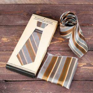 """Подарочный набор: галстук и платок """"Успехов в делах"""" 2137080"""