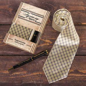 """Подарочный набор: галстук и ручка """"Лучшему брату"""""""