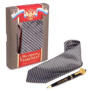 """Подарочный набор """"На страже закона"""": галстук и ручка"""
