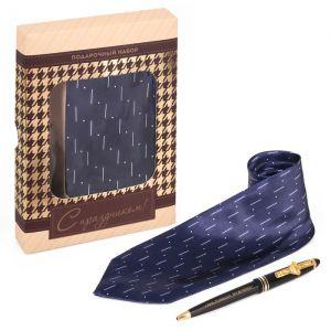"""Подарочный набор """"С праздником"""": галстук и ручка"""