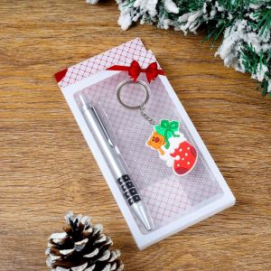Набор подарочный 2в1 (ручка, брелок новогодние подарки) 4473243