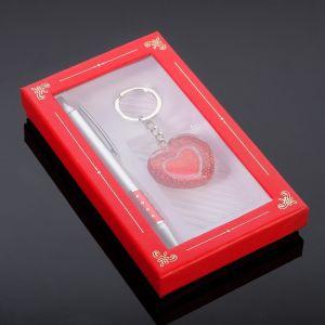 Набор подарочный 2в1 (ручка, брелок сердечко) микс 594012