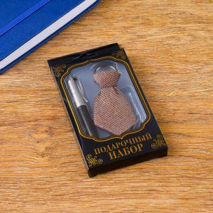 Набор подарочный 2в1 (ручка, брелок-галстук) микс 450933