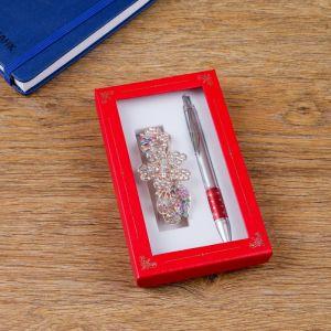 Набор подарочный 2в1 (ручка, заколка) 4432366