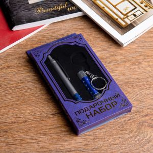 Набор подарочный 2в1 (ручка, фонарик синий) 592486
