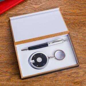 Набор подарочный 2в1 (ручка, фонарик черный) 592514