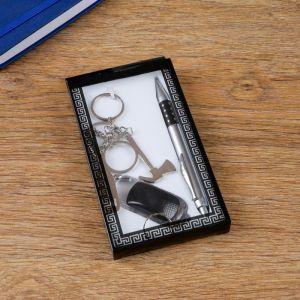 Набор подарочный 3в1 (ручка, брелок-инструменты, фонарик) 1689561