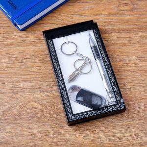 Набор подарочный 3в1 (ручка, брелок-инструменты, фонарик) микс 1689560
