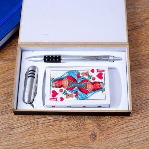 Набор подарочный 3в1 (ручка, карты, нож 3в1) 4429126