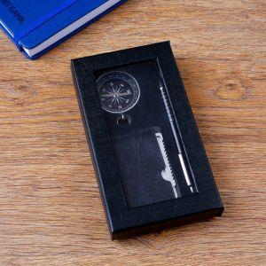 Набор подарочный 3в1 (ручка, компас, карта выживания) 4429128