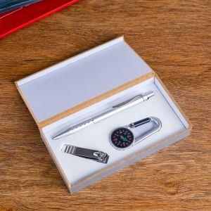 Набор подарочный 3в1 (ручка, кусачки, карабин-компас) 476354