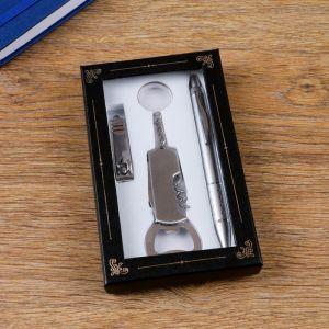 Набор подарочный 3в1 (ручка, кусачки, открывалка-штопор) 4432365