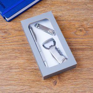 Набор подарочный 3в1 (ручка, кусачки, открывалка-штопор) 4432368