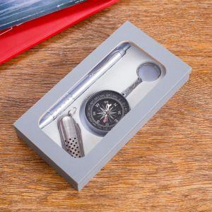 Набор подарочный 3в1 (ручка, нож 5в1, компас) 592578