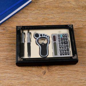 Набор подарочный 4в1 (2 ручки, калькулятор, открывалка) 864974