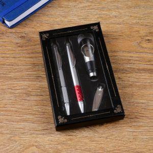 Набор подарочный 4в1 (2 ручки, кусачки, пробка для бутылки) 4432361