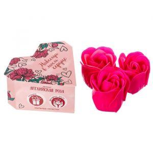 """Мыльные лепестки в коробке-сердце """"Навсегда в моём сердце"""", 3 шт."""