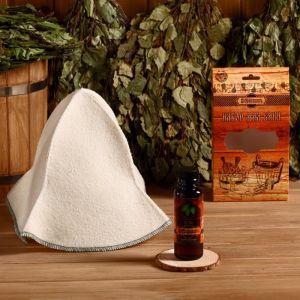 """Подарочный набор """"Добропаровъ"""": шапка """"Панама"""" и ароматизатор для бани 4691505"""