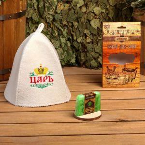 """Подарочный набор """"Добропаровъ"""": шапка """"Царь"""" и мыло натуральное 4796260"""