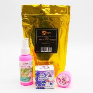 Подарочный набор «Цветочный аромат»: гиалуроновый гидролат, 50 мл.; масло Ши, 20 мл.   4136023
