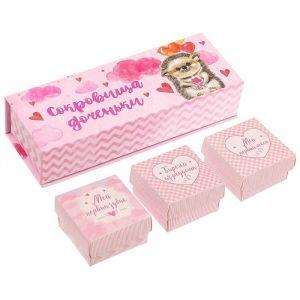 """Набор памятных коробочек для девочки """"Сокровища доченьки"""""""
