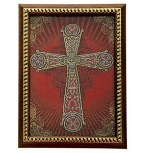 "Икона в рамке ""Корсунский крест"", гобелен"