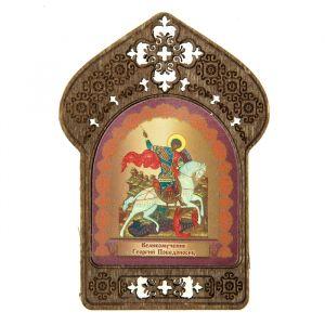 """Именная икона """"Великомученик Георгий Победоносец"""", покровительствует Юриям"""