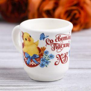 Пасхальная кружечка для святой воды «Цыплята», 30 мл