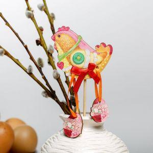 Сувенир на палочке «Курочка»