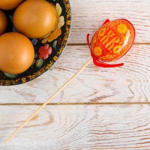 Пасхальный сувенир на палочке «ХВ. Узоры»