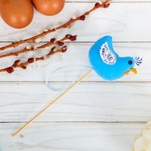 Сувенир пасхальный на палочке «Курочка»