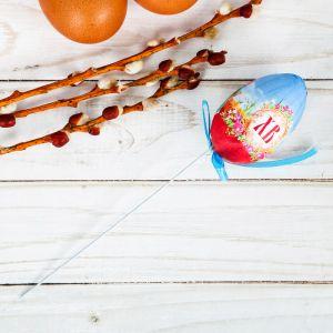Яйцо пасхальное на палочке «Ангел»