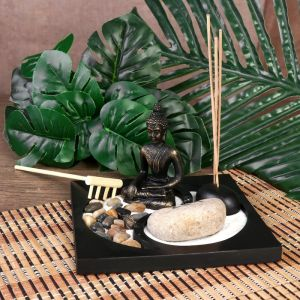 "Сад Дзен ""Будда инь-ян"" песок+камни+аромапалочка 10х15х15 см   4453262"