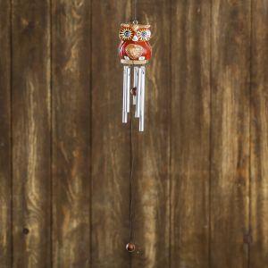 """Музыка ветра """"Сова с сердечком"""" дерево, металл 5х5х40 см   4165697"""