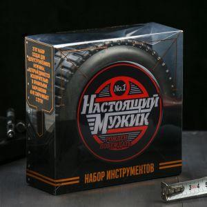 """Набор инструментов в колесе """"Настоящий мужик"""", 24 предмета   3838074"""