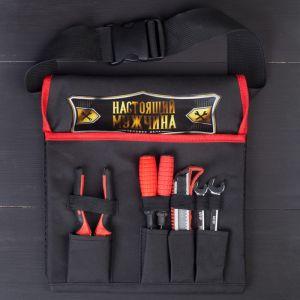Набор инструментов «Настоящий мужчина», в сумке, 6 предметов