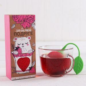 Набор «Любимой подруге»: чай 25 г, ситечко для чая