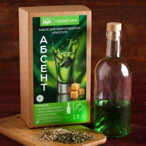 """Набор для приготовления алкоголя """"Абсент"""": набор трав и специй и бутылка   4410338"""