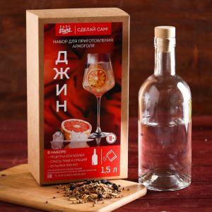"""Набор для приготовления алкоголя """"Джин"""": набор трав и специй и бутылка   4410339"""