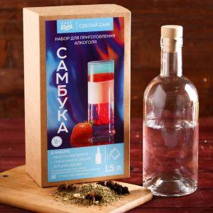 """Набор для приготовления алкоголя """"Самбука"""": набор трав и специй и бутылка   4410340"""