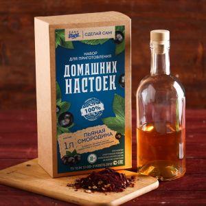 Набор для приготовления настойки «Пьяная смородина»: набор трав, специи, бутылка 0.5 л