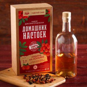 Набор для приготовления настойки «Рябина на коньяке»: набор трав, специи, бутылка 0.5 л