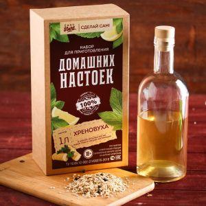 Набор для приготовления настойки «Хреновуха»: набор трав, специи, бутылка 0.5 л