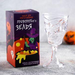 Набор «Приворотного зелья»: бокал 300 мл, растворимый фруктовый напиток 10 г 4468093