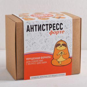 Подарочный набор «Антистресс», 3 предмета: шоколад 27 г, чай чёрный 25 п, значок 4433006